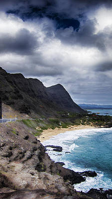 Halona Blowhole Lookout- Oahu Hawaii V3 Art Print