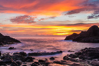 Photograph - Halona Cove Sunrise 4 by Leigh Anne Meeks