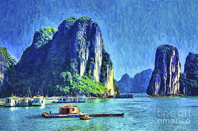 Photograph - Halong Bay Painting by Rick Bragan