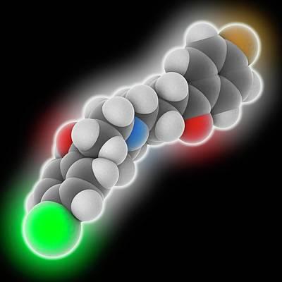 Schizophrenia Photograph - Haloperidol Drug Molecule by Laguna Design