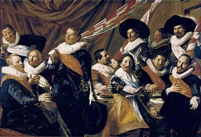 Banquet Photograph - Hals, Frans 1580-1666. Banquet by Everett