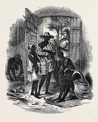 Slaves Drawing - Halt Of Brazilian Slaves by Brazilian School