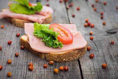 Whole Wheat Photograph - Ham Sandwich by Aged Pixel