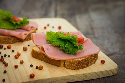 Ham Sandwiches Art Print by Aged Pixel
