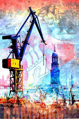 Hamburg - Meine Perle Art Print by Marc Huebner