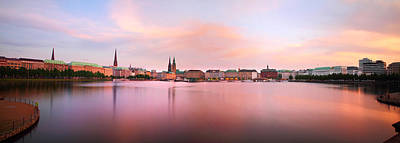 Photograph - Hamburg Afterglow by Marc Huebner