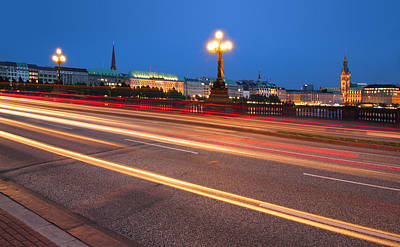 Photograph - Hamburg City Lights by Marc Huebner