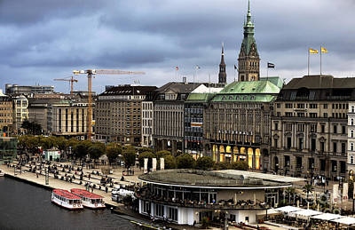 Photograph - Hamburg Colors At Dusk by John Rizzuto