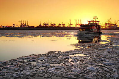 Photograph - Hamburg Golden Winter by Marc Huebner
