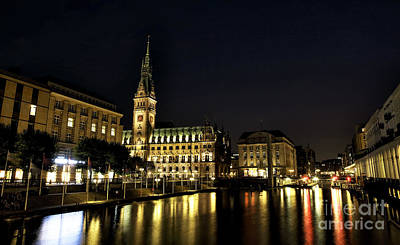 Photograph - Hamburg Rathaus Colors by John Rizzuto