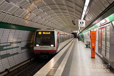 U-bahn Photograph - Hamburg Subway Station by Jannis Werner