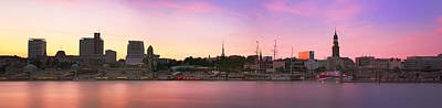Photograph - Hamburg Sunset Skyline by Marc Huebner