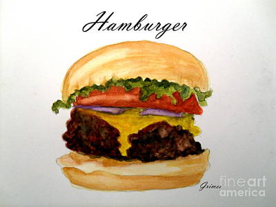Painting - Hamburger 2 by Carol Grimes