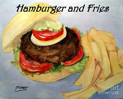 Painting - Hamburger And Fries by Carol Grimes