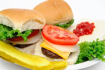 Hamburger And Pickles Art Print by Don Bendickson