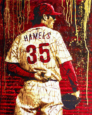 Cole Hamels Painting - Hamels - The Executioner by Bobby Zeik