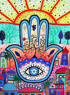 Painting - Hamesh Evil Eye by Pristine Cartera Turkus