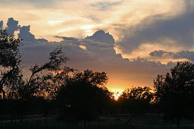 Photograph - Hamilton County Sunset by Catherine Link