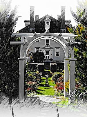 Hamilton House Gardens Art Print