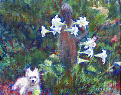 Stature Painting - Hamilton In The Garden by Candace Lovely