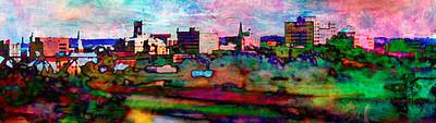 Digital Art - Hamilton Ohio City Art 10 by Mary Clanahan