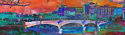 Digital Art - Hamilton Ohio City Art 2 by Mary Clanahan