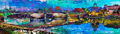 Digital Art - Hamilton Ohio City Art 3 by Mary Clanahan