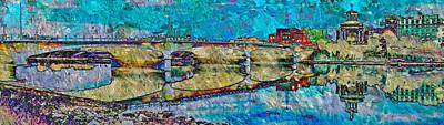 Digital Art - Hamilton Ohio City Art 4 by Mary Clanahan