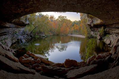 Hamilton Pool Photograph - Hamilton Pool Autumn Colors - Texas Hill Country by Rob Greebon