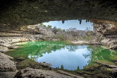 Sink Hole Photograph - Hamilton Pool by David Morefield