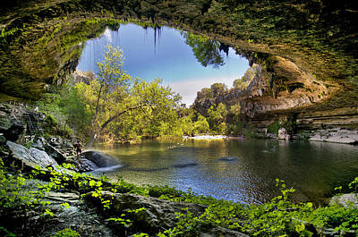 Natural Pool Photograph - Hamilton Pool by Lisa  Spencer