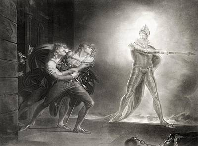 Apparition Photograph - Hamlet, Act I, Scene Iv, By William Shakespeare 1564-1616 Engraved By Robert Thew 1758-1802 Litho by Henry Fuseli
