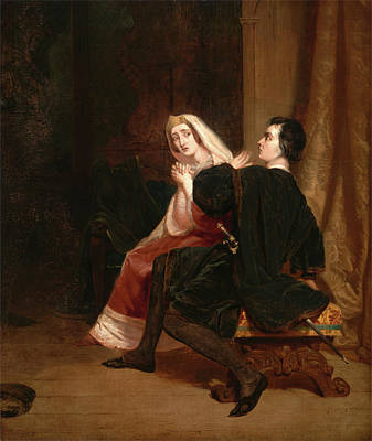 Component Painting - Hamlet And His Mother The Closet Scene Dated In Red Paint by Litz Collection