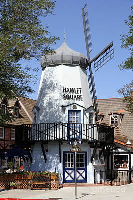Old Windmill Wall Art Photograph - Hamlet Square Mill Solvang by Christiane Schulze Art And Photography