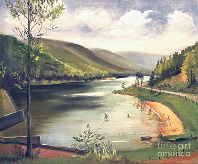 Painting - Hamlin Lake Beach 1945 by Art By Tolpo Collection