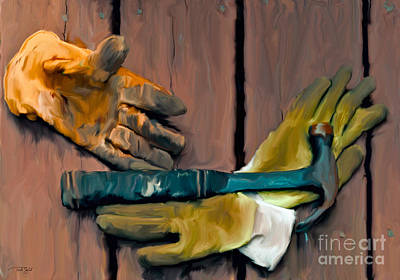 Wild And Wacky Portraits - Hammer and Gloves by Ted Guhl
