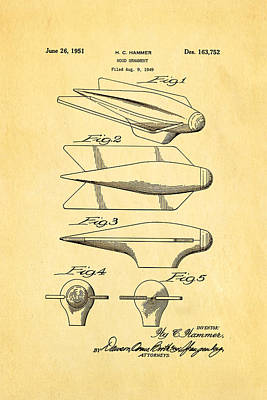 Photograph - Hammer Hood Ornament Patent Art 1951 by Ian Monk