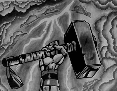Hammer Of Thor Art Print by Jeremy Moore