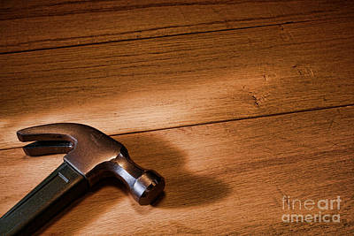 Hammer On Wood Art Print by Olivier Le Queinec