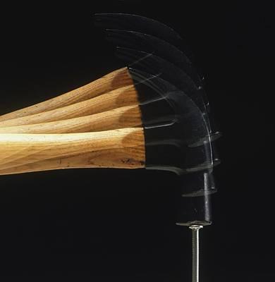 Striking Photograph - Hammer Striking Nail by Dorling Kindersley/uig