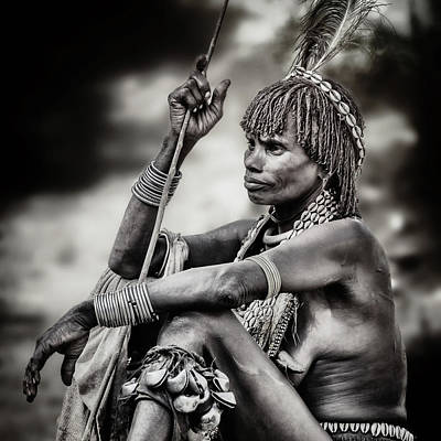 Tribe Photograph - Hammer Woman by Piet Flour