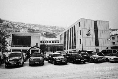 Hammerfest Radhus Kommune Offices Local Government Council  Finnmark Norway Europe Art Print by Joe Fox