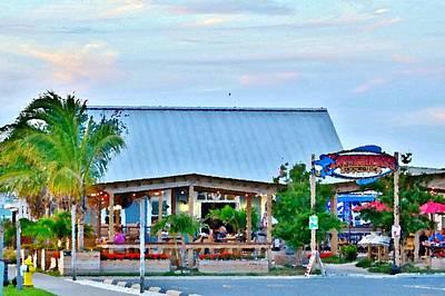 Photograph - Hammerheads Dockside Restaurant - Indian River Marina - Delaware by Kim Bemis