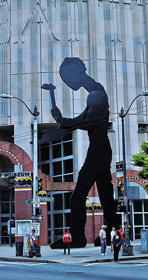 Photograph - Hammering Man Seattle by Allen Beatty