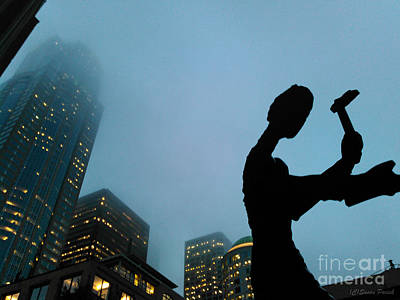 Photograph - Hammering Man Seattle by Susan Parish