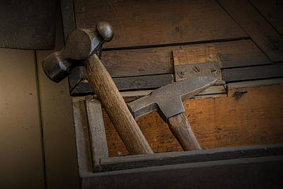 Photograph - Hammers In A Wood Box by Randall Nyhof