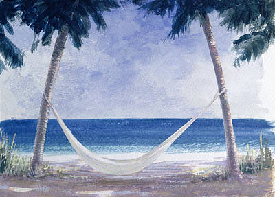 Caribbean Sea Painting - Hammock by Lincoln Seligman