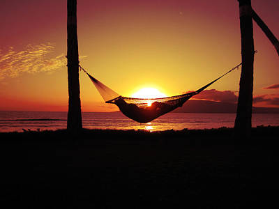 Photograph - Hammock At Sunset On Maui by Russell Rebelo