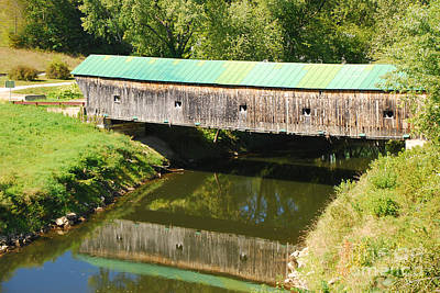 Photograph - Hammond Covered Bridge by Mary Carol Story