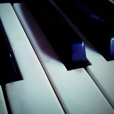Musical Instruments Photograph - Hammond Organ Keys by Liz Grimbeek